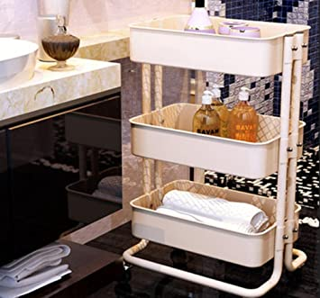 ZQQ Küche Grill Wagen Handy Bücherregal Aufbewahrung Rack Living ...