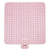 MIU COLOR Large Waterproof Outdoor Picnic Blanket, Sandproof and Waterproof Picnic Blanket Tote for Camping Hiking Grass Travelling(80'' x 60'') (80''x 60'' Pink Owl)