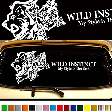Lion car rear sticker 35 car custom stickers decals 【8 colors to choose from】