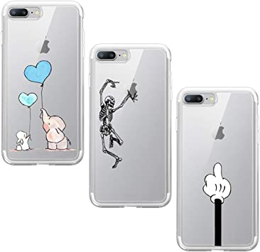 Suhctup Funda Compatible con iPhone 7/8 Silicona Transparente Case ...