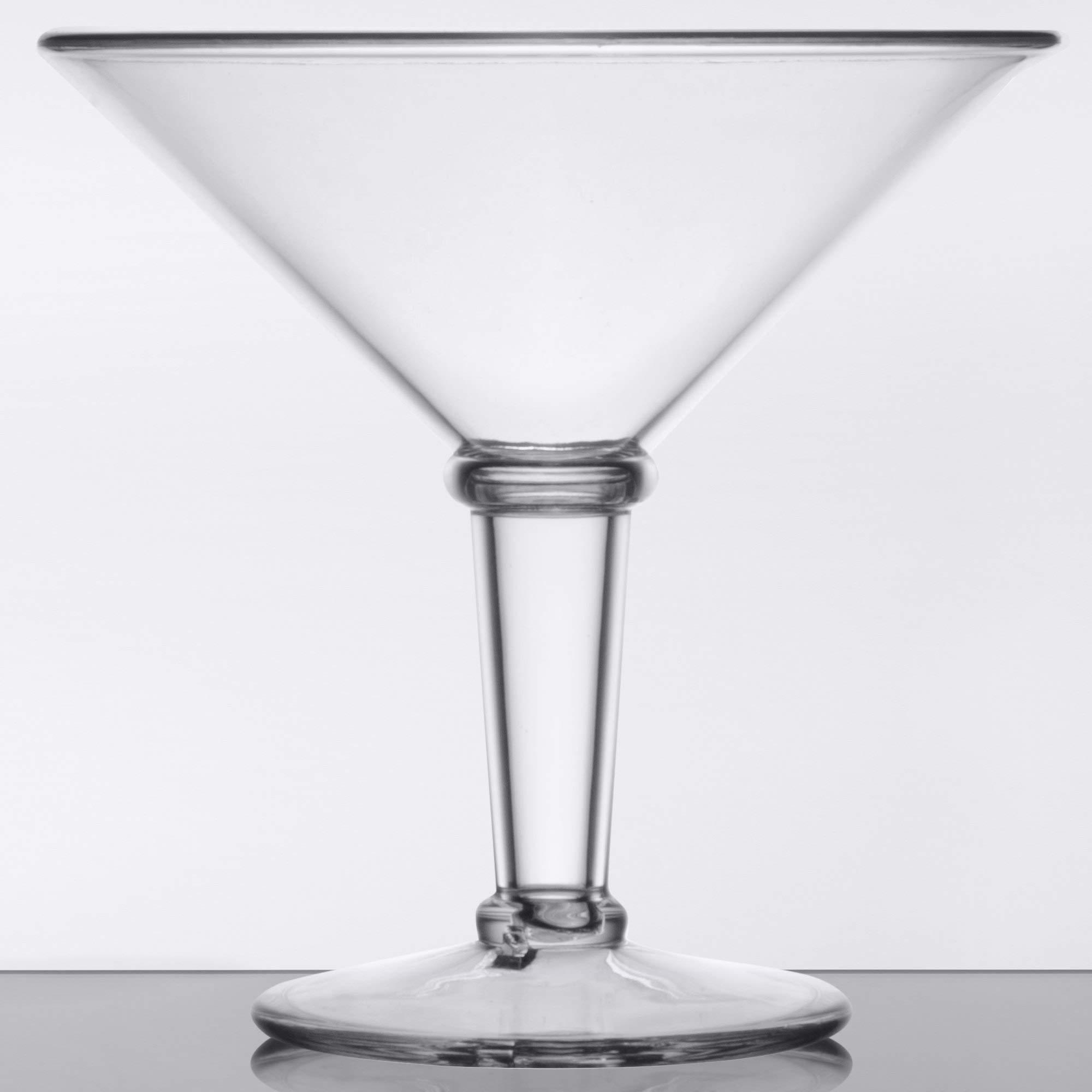 GET SW-1419-1-SAN-CL Plastic Super Martini Glasses, 48 Oz, Case of 3
