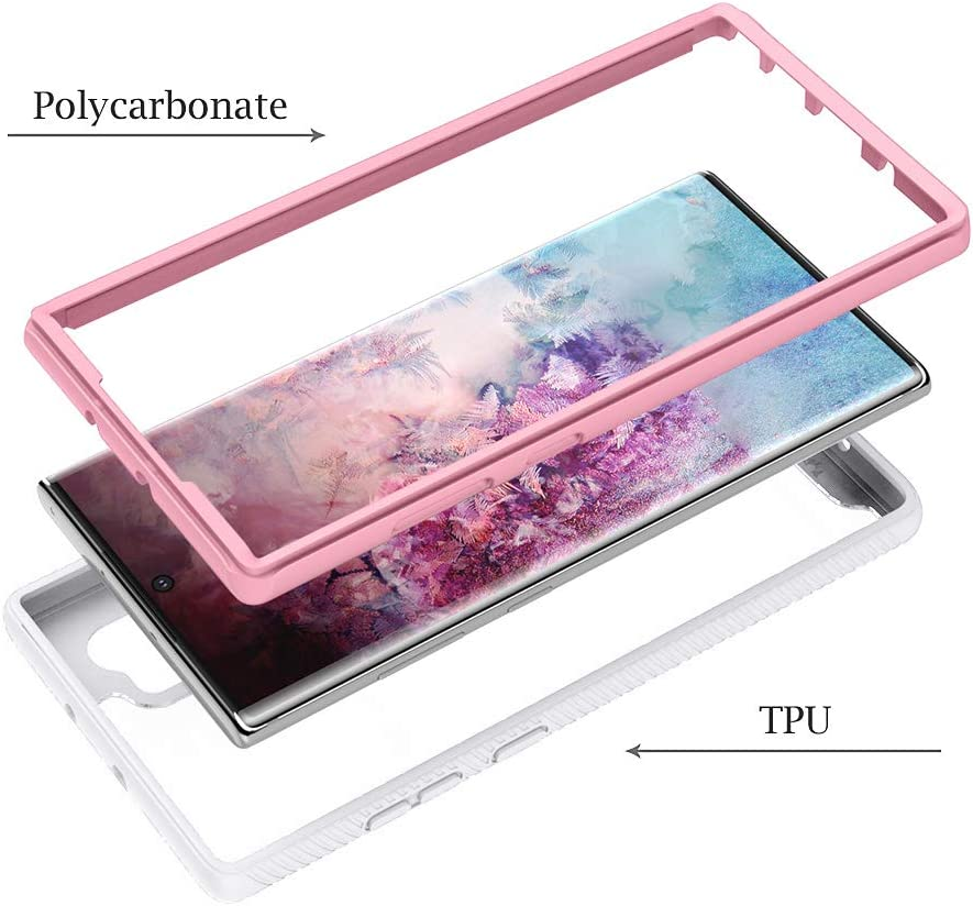 Plus//5G //Pro-Clear Purple Plus//5G //Pro Case with Clear Acrylic Heavy 2 in 1 Protection Hard Back TPU PC Shockproof Resistant for Samsung Note 10 Ownest Compatible with Samsung Galaxy Note 10