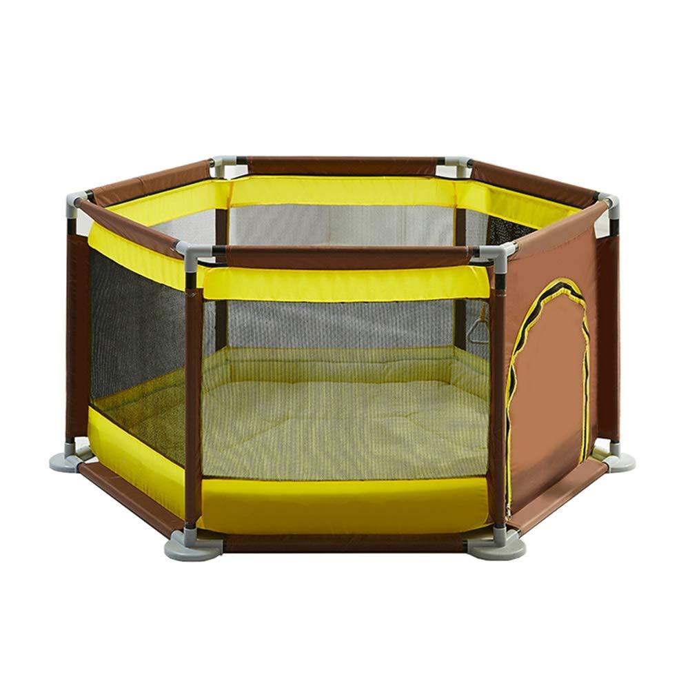 定番 ベビーサークル マットレス6-パネル幼児ポータブル遊び場子供用セキュリティフェンス屋内用セーフティボックス(4色) (色 B07MNWM4QR : Coffee color color yellow) Coffee Coffee color yellow B07MNWM4QR, バギートライクショップセブン:a5137313 --- a0267596.xsph.ru