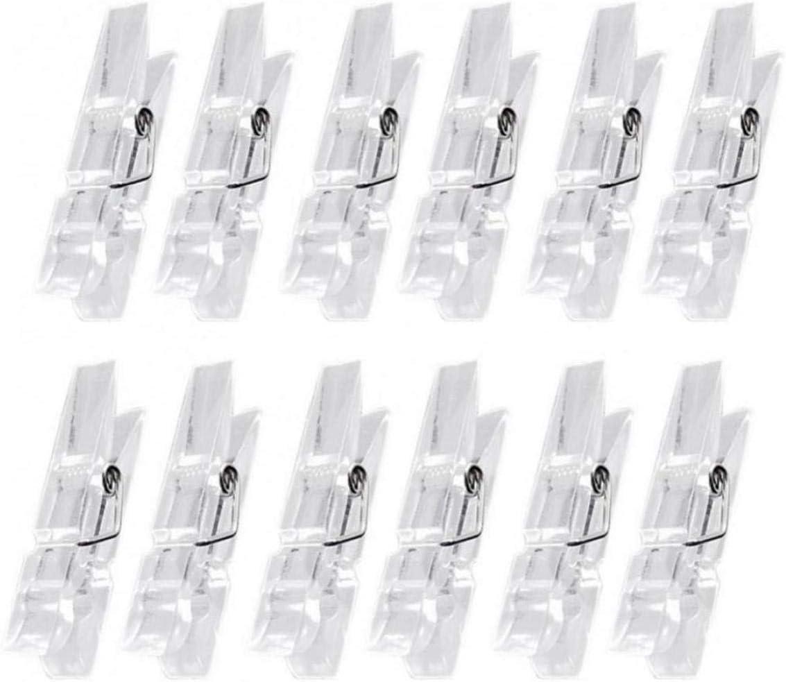 Amoyer Clips pensili 50PCS Primavera Trasparenti Morsetti di plastica mollette Clip Clip per Foto di Carta