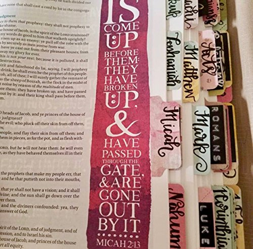 ALL handwritten bible tabs (Single-Sided)