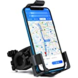 AKEIE 自転車 スマホ ホルダー オートバイ バイク スマートフォン マウンテンバイク 携帯ホルダー GPSナビ 固定用 スタンド 3角形フレーム 強力固定 脱落防止 3.5-6.5インチのiPhone/Andriodなど多機種対応 角度調整 360度回転 脱着簡単