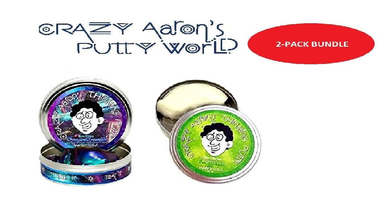 Crazy Aaron's 2 Pack: Super Scarab and Krypton! Large 4'' Tins
