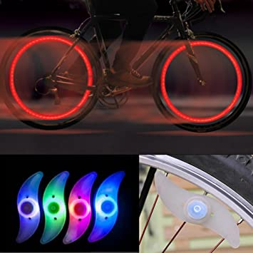 Elegant GADA 2X Fahrrad Rad LED Speichen Licht Lampe Blinker Spoke Beleuchtung  Mehrfahrbig Verschiedene Modi