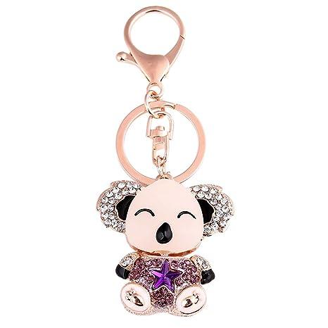Bromrefulgenc - Llavero elegante para niñas, diseño de koala ...