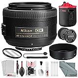 Nikon AF-S DX NIKKOR 35mm f/1.8G Lens, Basic Bundle with UV Lens Filter+ Lens Pouch + Xpix Professional Handling Accessories