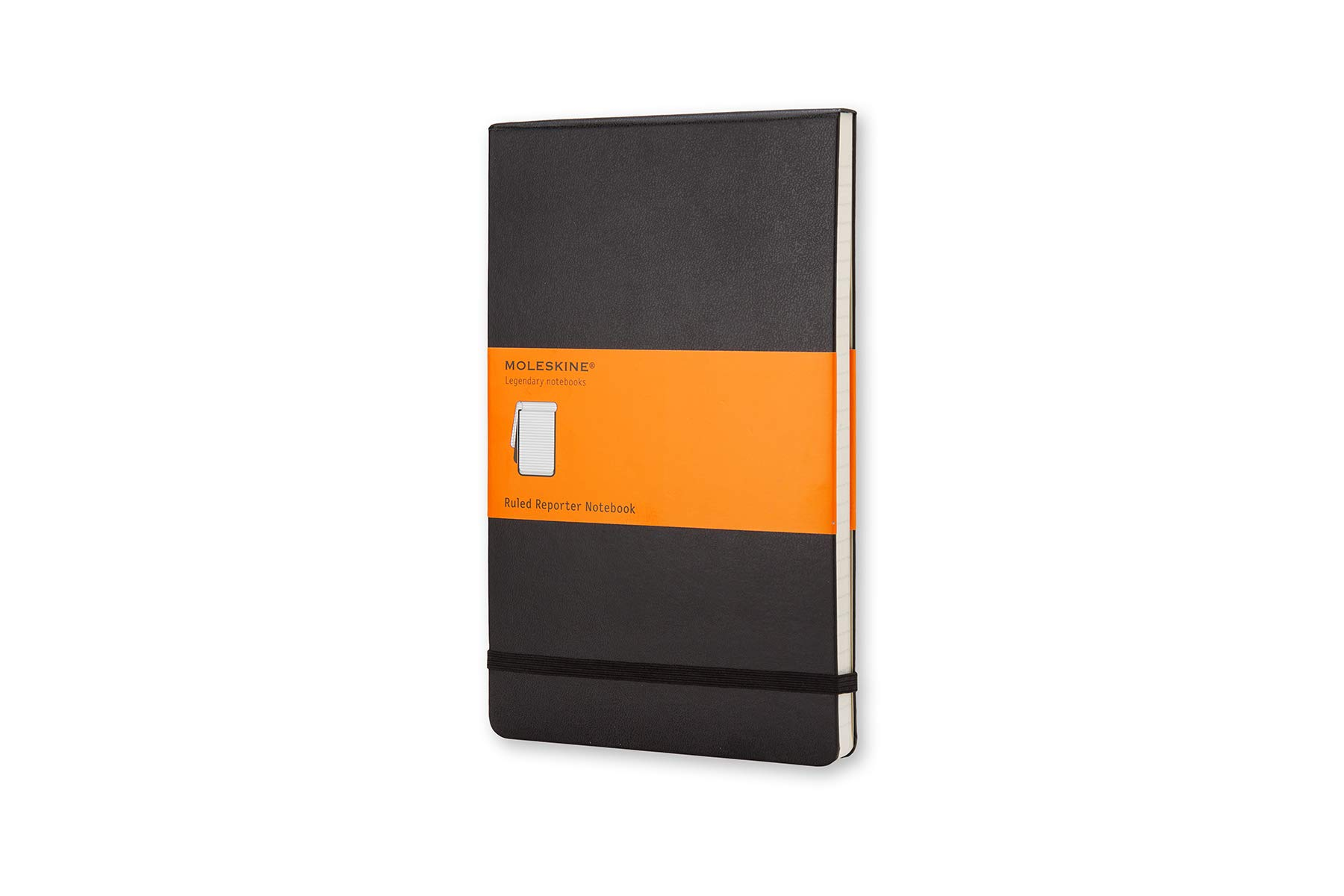 Moleskine Classic Hard Cover Reporter Notebook, Ruled, Large