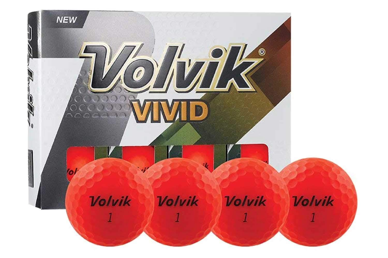 PlayBetter Volvik Vivid Matte Premium Bright-Colored Golf Balls | Multi-Packs (Red, Four Dozen (48 Balls))