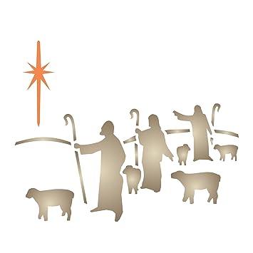 Hirten Bilder Weihnachten.Weihnachten Hirten Schablone Wiederverwendbar Schablonen Für