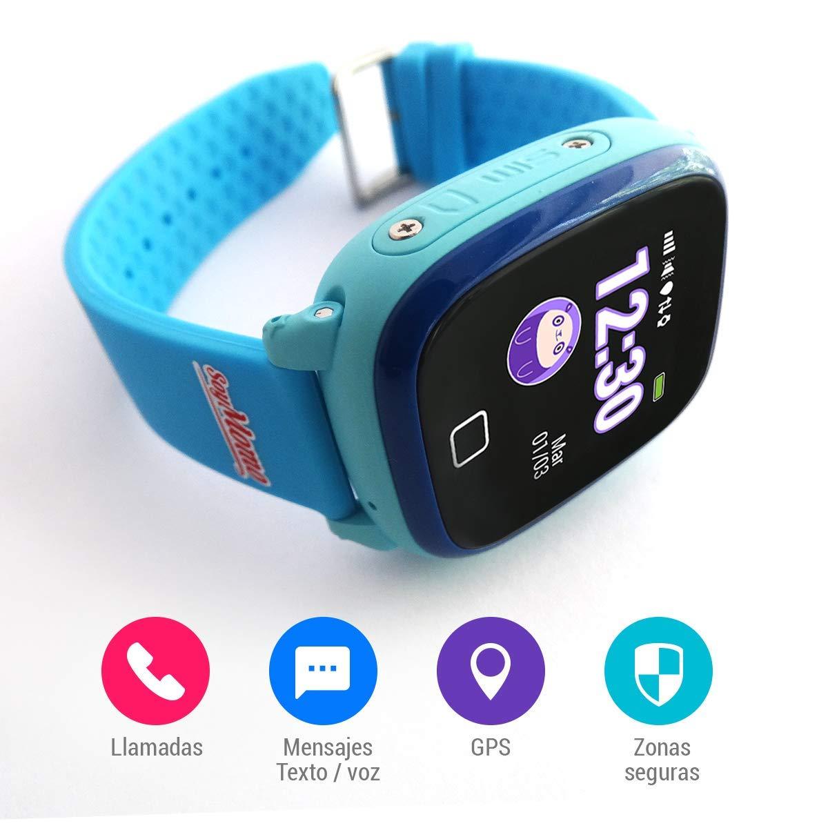 SoyMomo H2O Telefono pequeño y seguro para niños con GPS. (Azul): Amazon.es: Electrónica