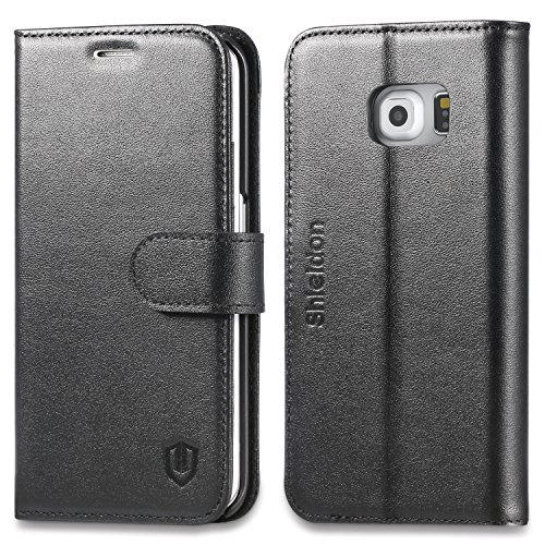Wallet Case For Samsung Galaxy S6 edge (Black) - 7