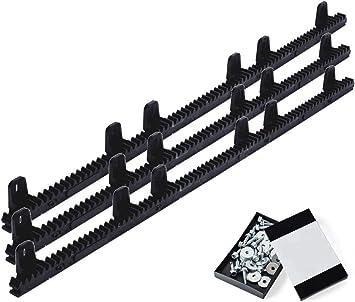Pack cremallera nylon estandar para motor corredera, compatible con cualquier motor del mercado, alta calidad, interior en acero reforzado, con tornillos de fijación. (3 METROS): Amazon.es: Bricolaje y herramientas