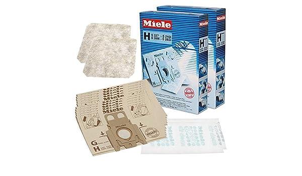 Miele S271I S272I S273I H tipo de auténtica HyClean bolsas al vacío para aspiradoras y Kit de filtros (unidades 10): Amazon.es: Hogar
