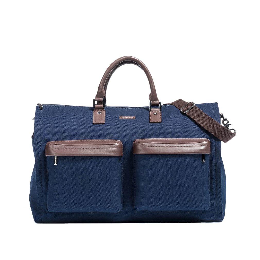Hook and Albert Garment Weekender Bag, 22'' x 13'' x 10'' Travel Duffle (Navy)
