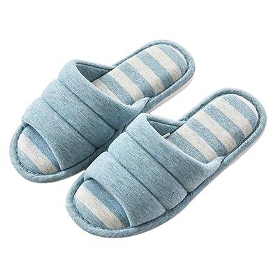 afcc7cee0db5 ONCAI Cotton Linen Couple House Slipper Open Toe Terry Slipper For Men And  Women (Women
