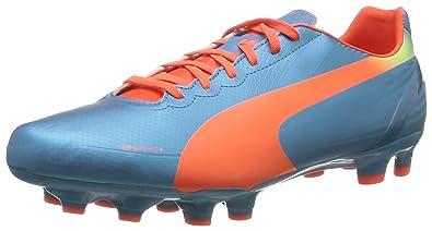 Puma evoSPEED 5.2 FG 102877 Herren Fußballschuhe, Blau (sharks blue-fluro peach-fluro yellow 05), EU 40.5 (UK 7) (US 8)