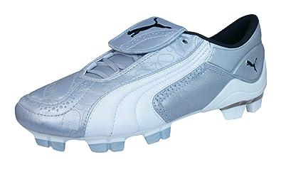 e6eb72fd95582 PUMA V Konstrukt II GCi FG Womens Leather Soccer Boots Cleats-Silver-6