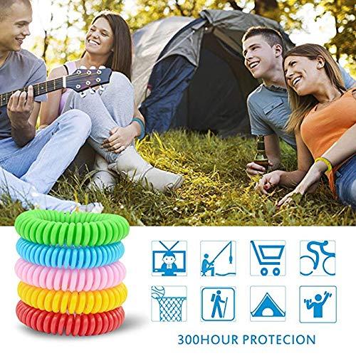 insectos para uso en exterior protecci/ón de hasta 300 horas libre de DEET para mu/ñeca o pelo impermeable natural Pulsera repelente de mosquitos