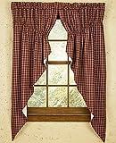 Cheap Sturbridge Park Designs 72″x 63″ Wine Prairie Curtains
