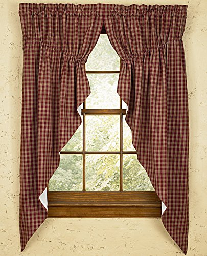 Sturbridge Park Designs 72'x 63' Wine Prairie Curtains