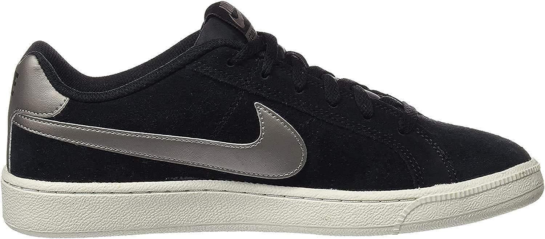 Nike Court Royale Suede, Chaussures de Gymnastique Homme Noir Black Mtlc Pewter Light Bone