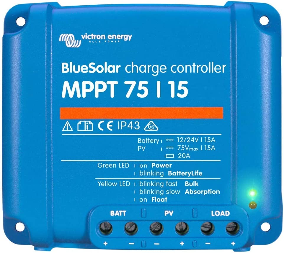 Victron BlueSolar 75 15 MPPT Charge Controller – 15 Amps 75 Volts
