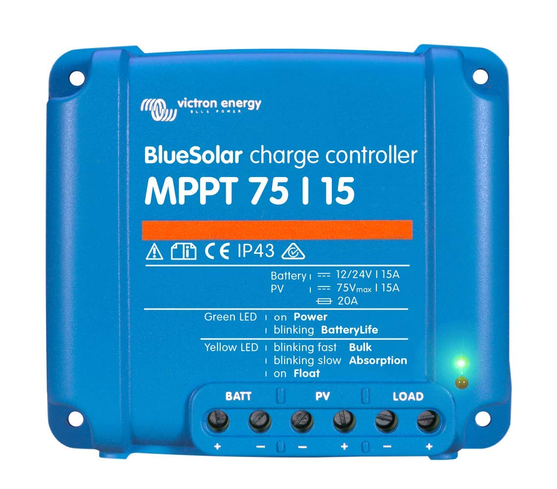 Victron BlueSolar 75/15 MPPT Charge Controller - 15 Amps / 75 Volts by Victron