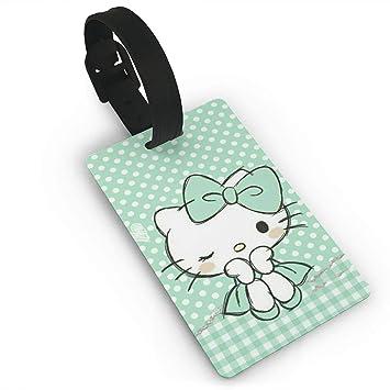 Meirdre - Etiquetas para Equipaje, diseño de Hello Kitty, Color Verde: Amazon.es: Hogar