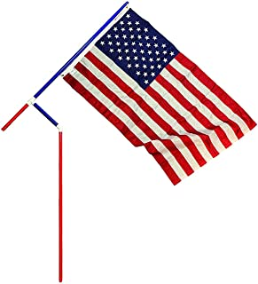product image for Red, White and Blue PVC Flagpole, Made in The USA, Includes 3'x5' Made in The USA Flag, Great for Camping, Tailgating or Your Yard