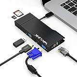 WAVLINK USB3.0フルHDミニドッキングステーション VGA/HDMI USB3.0ポート×2 TF/Micro SDカードリーダー内蔵のコンボ ギガビットイーサネット付き