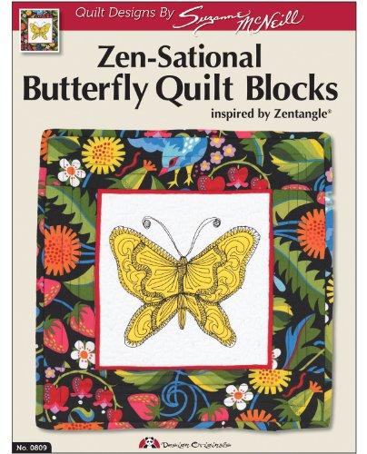 Design Originals DO809 Sensational Butterflies Quilting Template with Zen Tangle