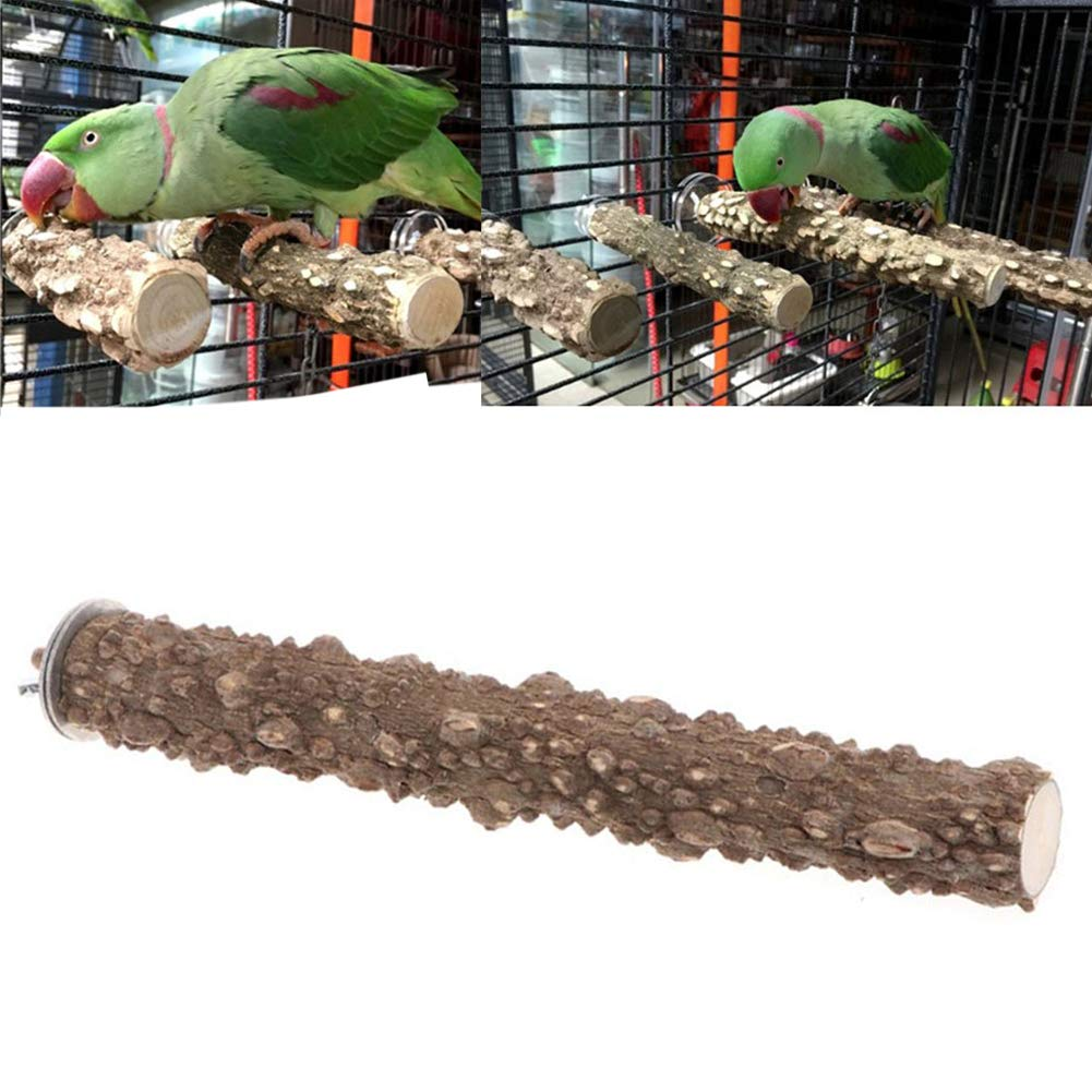 20cm ocijf179 Pet Bird Parrot Stand Perch Stick Platform Grinding Paw Cage Hanging Chew Toy