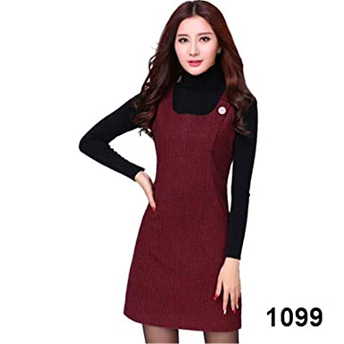 Yaha See There Autumn Winter Woolen Womens Dress Plus Size Vest