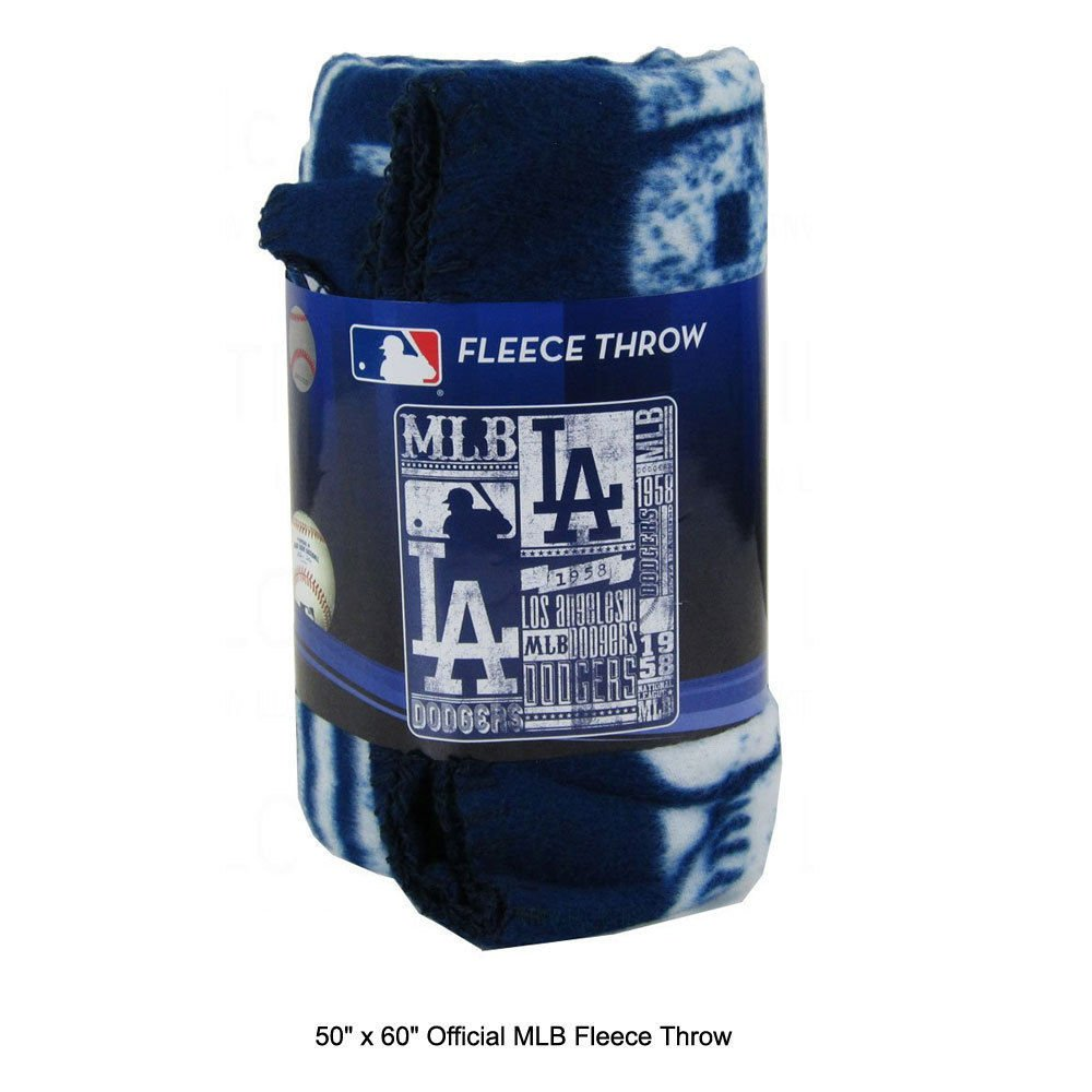 MLB Los Angeles Dodgers Fleece Throw Blanket 50 inch by 60 inch