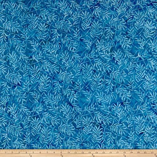 Timeless Treasures Tonga Batik Boathouse Forest Leaves Fabric, Lake, Fabric By The Yard