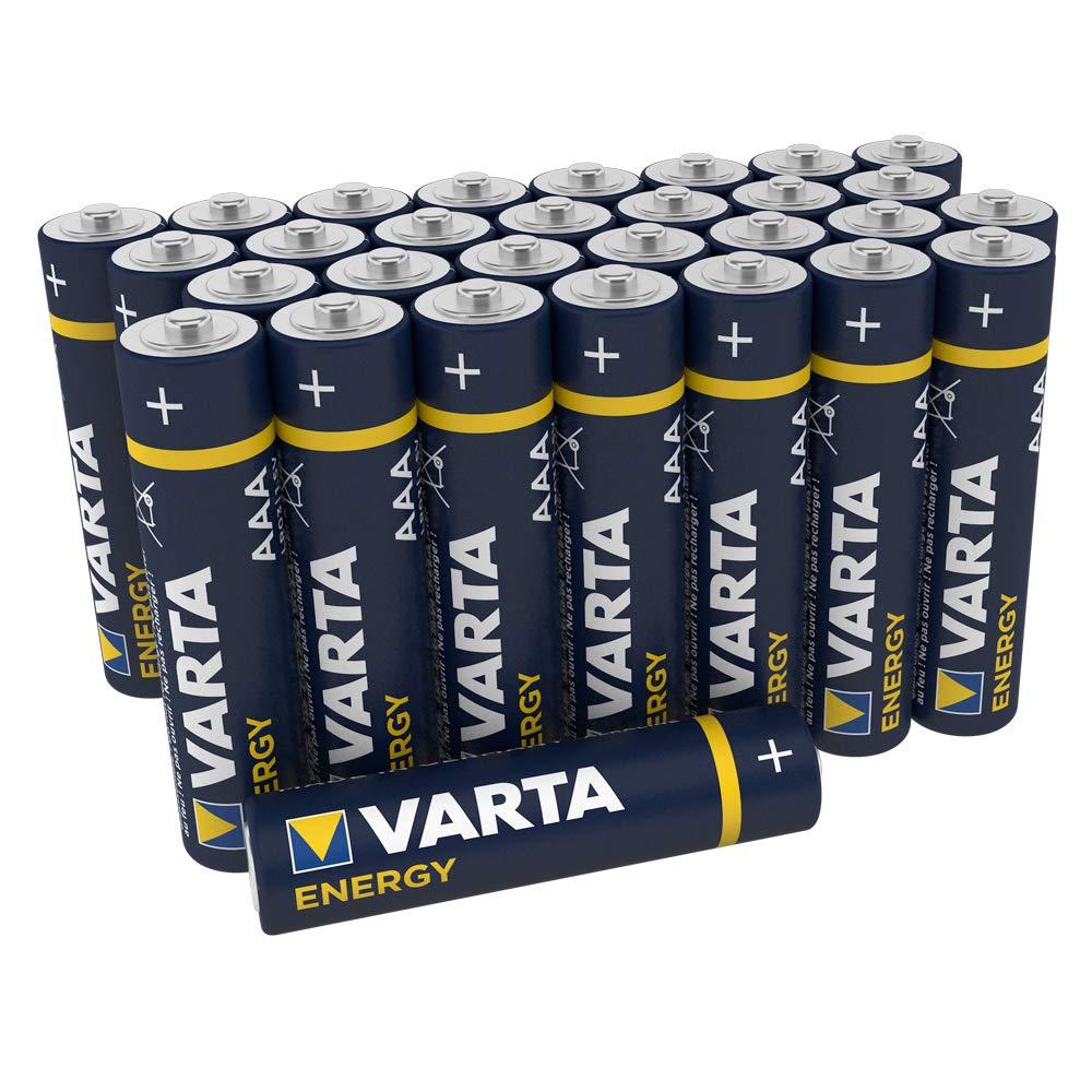 Varta Energy - Pilas alcalinas AAA / lr03 / Micro (Pack de 30 Unidades, 1.5v).: Amazon.es: Electrónica