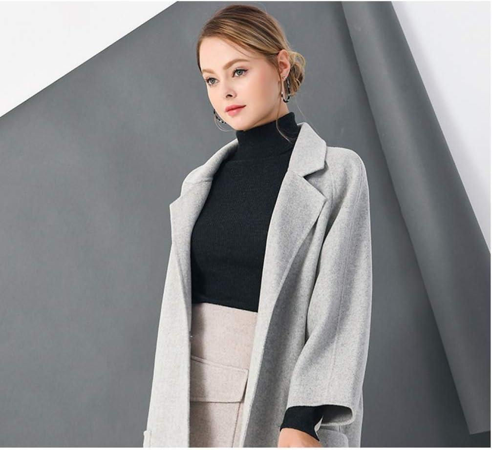JJZHY Automne Et Hiver Veste Chaude Veste Boucle Coat Broderie Vintage Coupe-Vent À Manches Longues pour Femmes en Laine gris