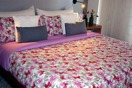 Juego de sábanas Algodón 100% PAPILLON (para cama de 135x190/200): Amazon.es: Hogar