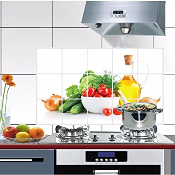 Aufkleber,Resplend DIY Wandtattoo Küche Anti-Öl ...