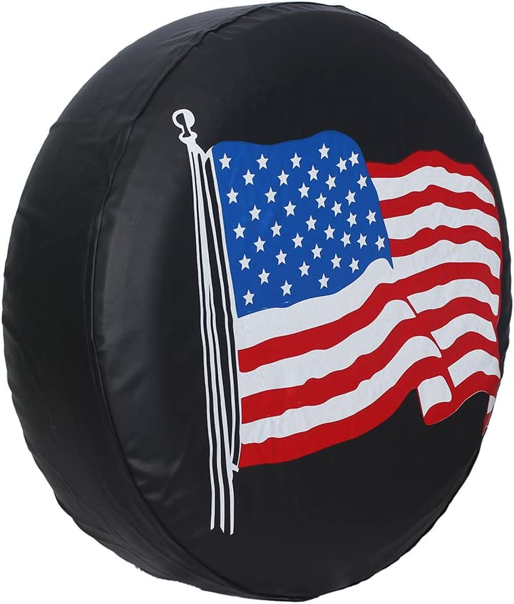 14 for diameter 23-27 RV 17 SUV and Many Vehicle 14 15 16 17 DIY Spare Tire Cover PVC Leather WaterProof Dust-proof Universal Spare Wheel Tire Cover Fit for Jeep,Trailer