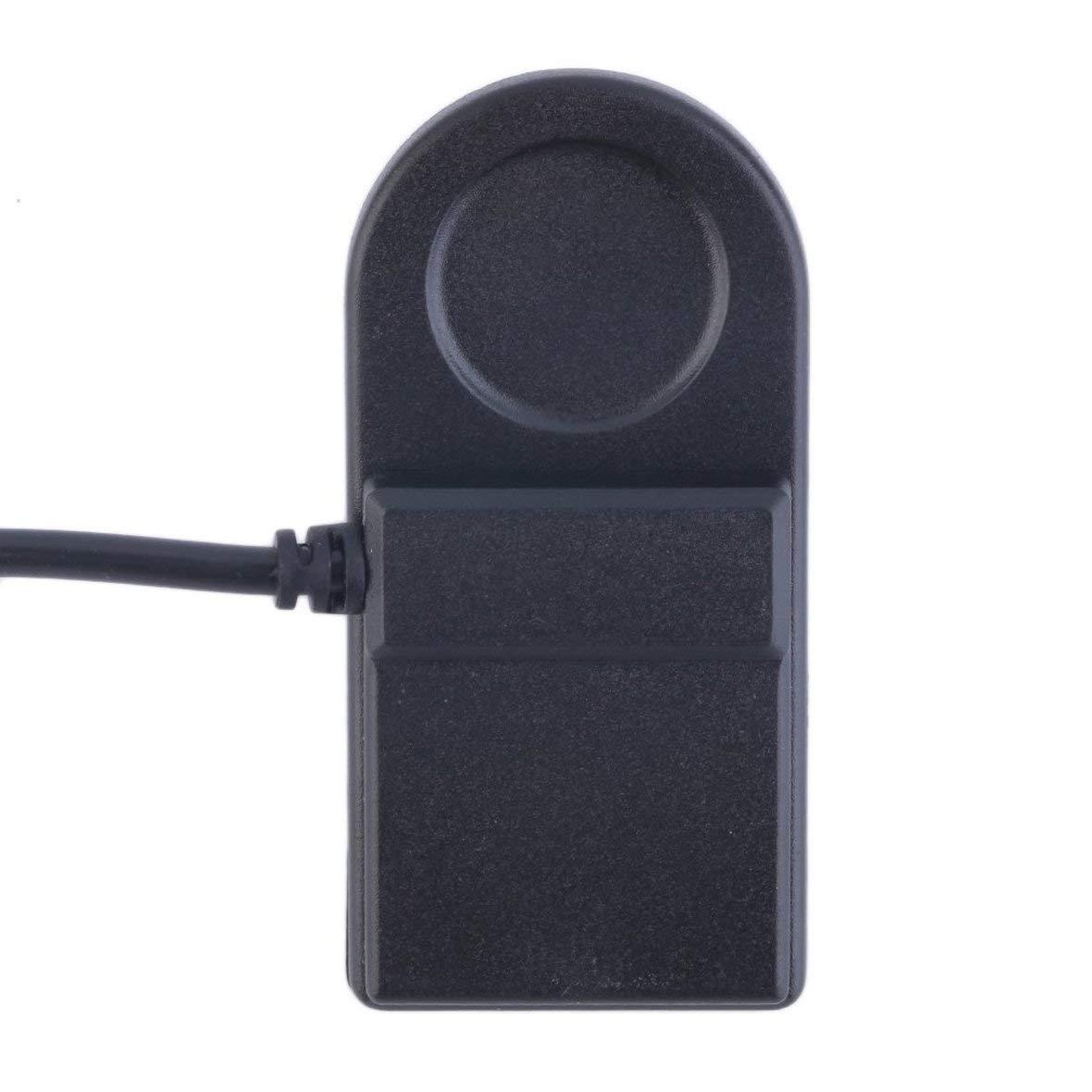 Heaviesk C/âble de Serrage pour Chargeur USB en Plastique Noir Compact et l/éger pour Garmin Forerunner 405CX 405 410 910XT 310XT