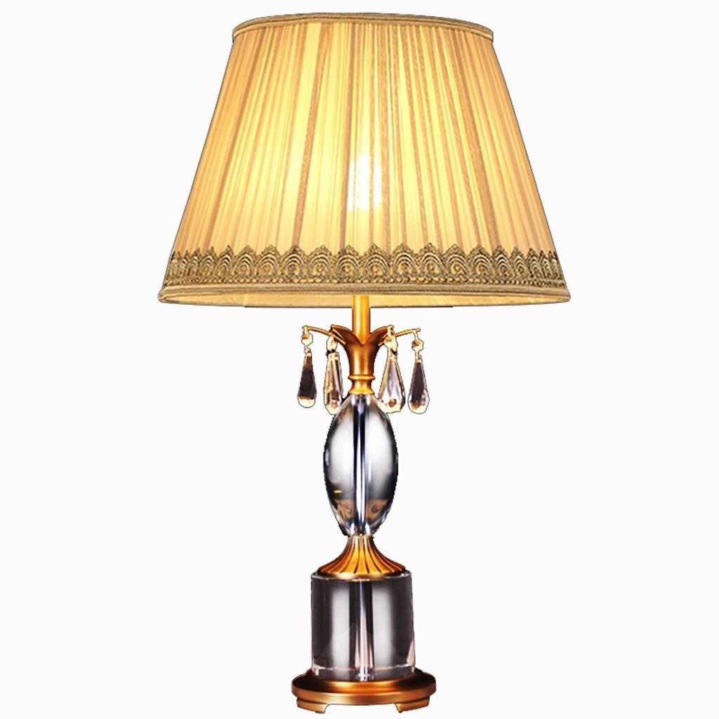 Hanlon E27-Schraubsockel, Tischlampe American Kupfer Lampe American Luxus Kupfer Kristall Tischlampe Europäischen Wohnzimmer Schlafzimmer Nachttisch Copper Lampe