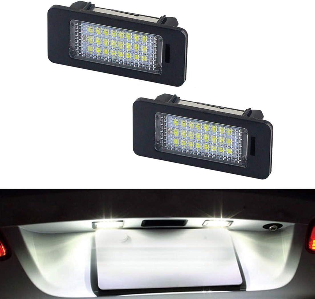 MOLEAQI 2X LED Auto Kennzeichenleuchte 8T0943021 Zubeh/ör f/ür Au-di A4 B8 4-t/ürige Limousine 5-t/ürige Avant S4 B8 A5 S5 Q5 TT TTRS