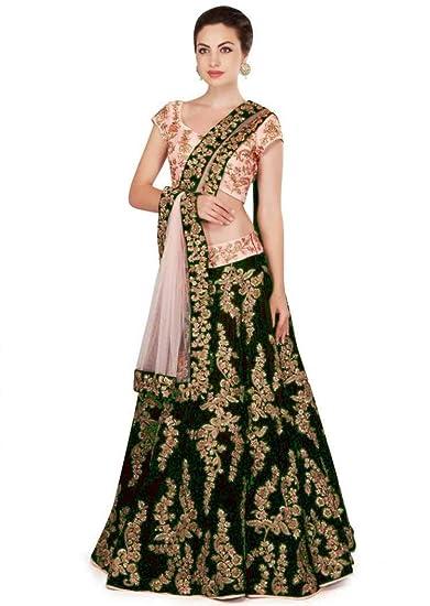 0f7efebf5c Wandar Beauty women'sEmbroidered multicolour Semi Stitched lehengas, lehenga  choli (WANDR-09,FreeSize): Amazon.in: Clothing & Accessories