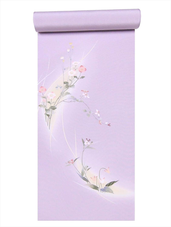 反物 附下 ts-7うす紫地桜草柄   B07R7MTQR2