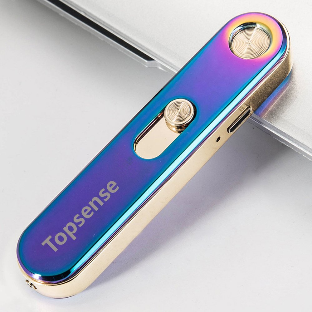 TopsenseTM USB recargable a prueba de viento Cigarrillos Electrónico sin llama encendedor de cigarros (colorido): Amazon.es: Hogar